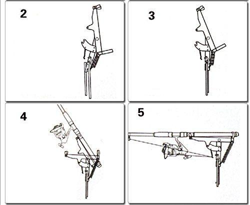 fishing rod holder with automatic tip up hook setter horizontal fishing rod rack plans viking solutions fishing rod rack