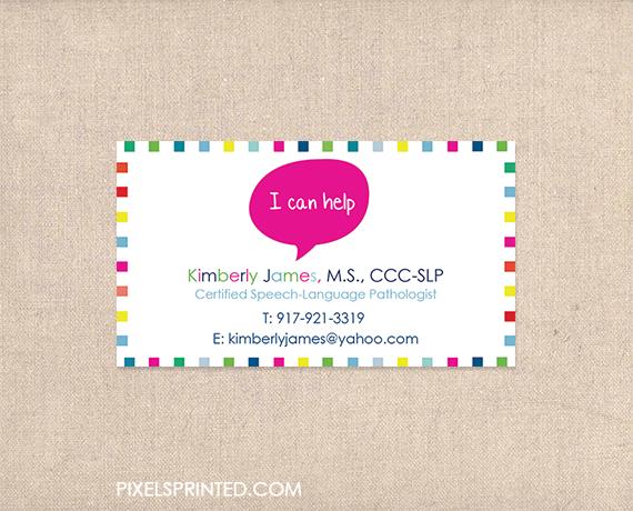 Speech language pathologist business cards slp business cards speech language pathologist business cards slp business cards colourmoves