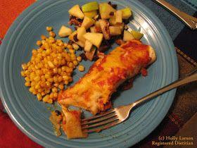 Holly Larson, Registered Dietitian: Black bean and sweet potato enchiladas