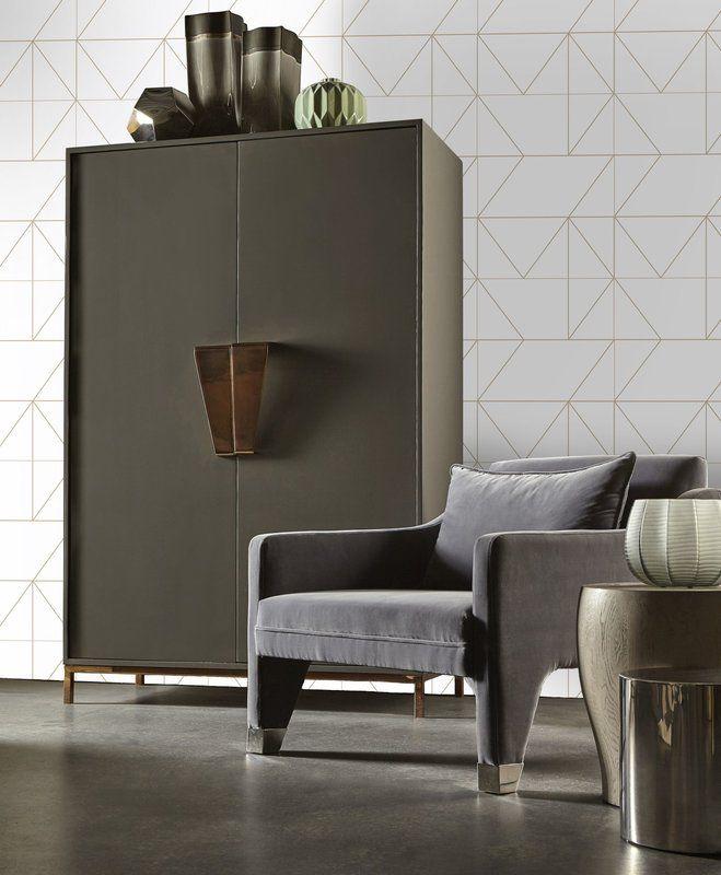 Kelly Hoppen Geometric 10m X 52cm Matte Wallpaper Roll