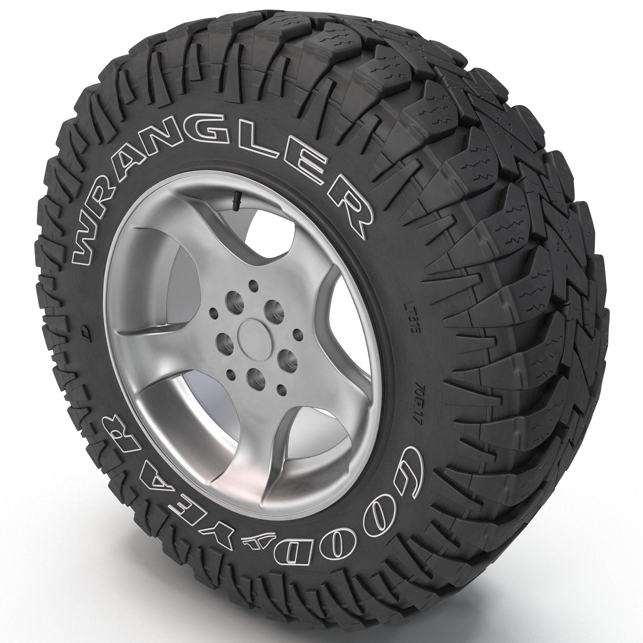 3d model goodyear wrangler tire   instrument