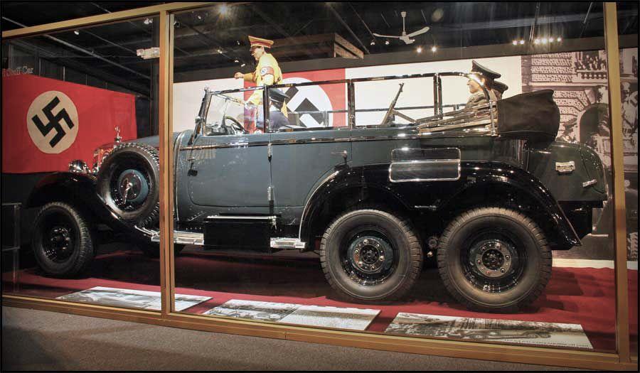 Adolf hitler 1939 mercedes g4 six wheeled staff car for Six wheel mercedes benz