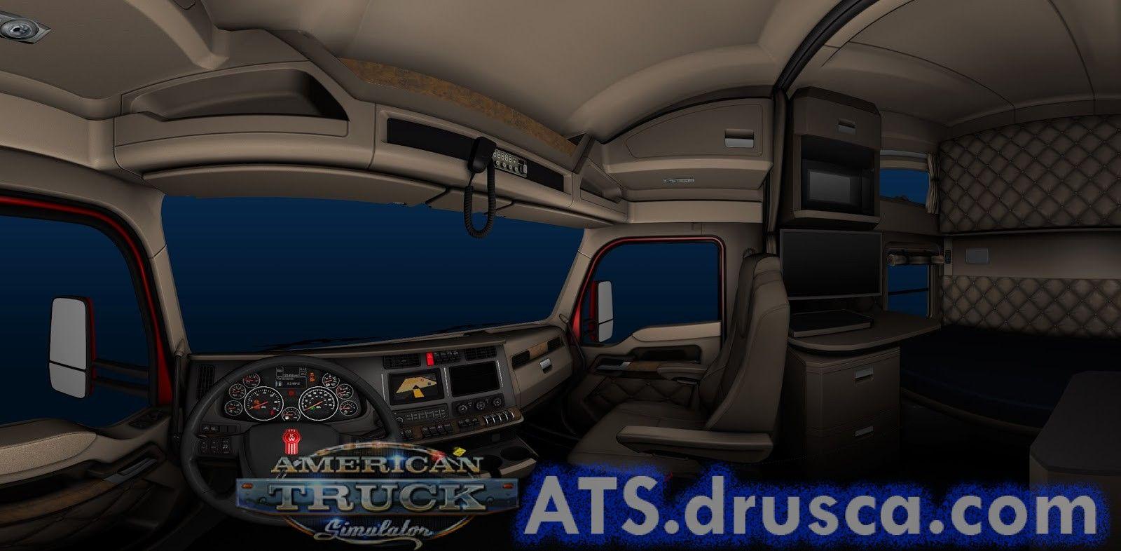 Kenworth T680 interior | ATS mods | American truck simulator