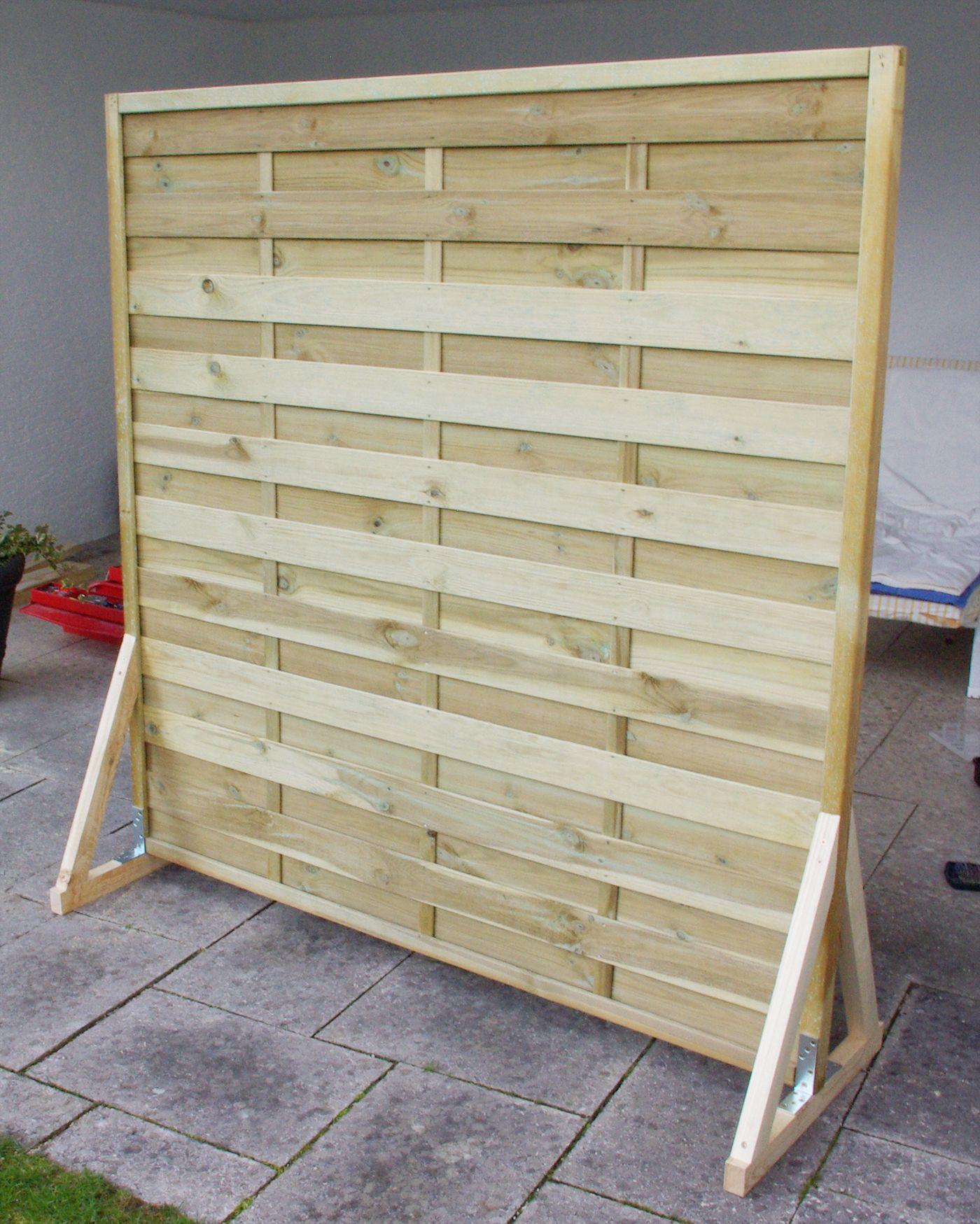 Sichtschutz Paravent Garten Balkon selber bauen Anleitung DIY