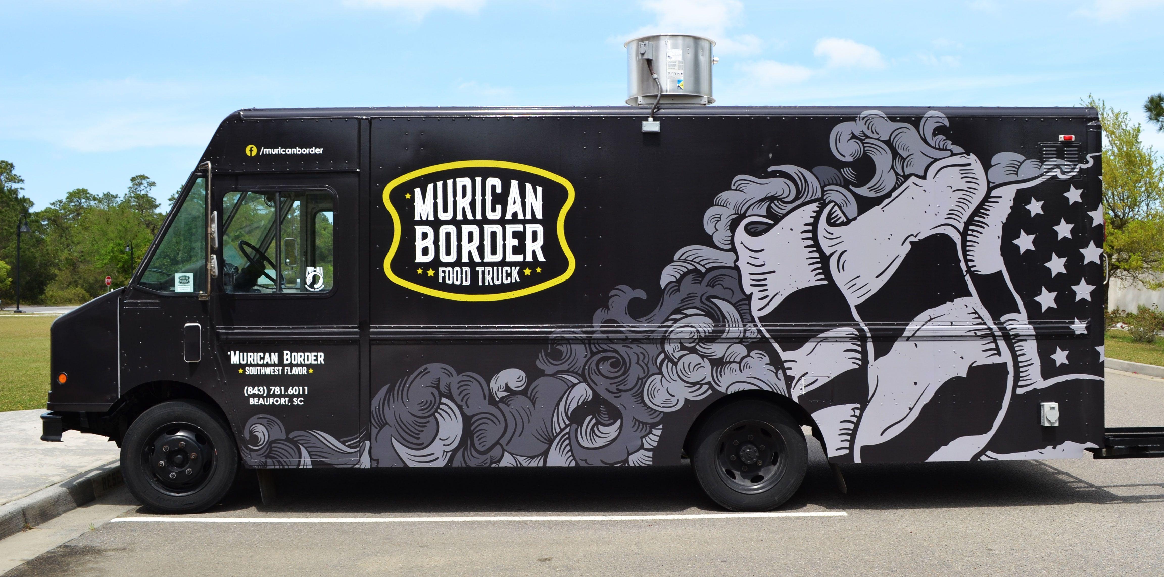Food Truck Wrap Design Vintage Illustration With Images