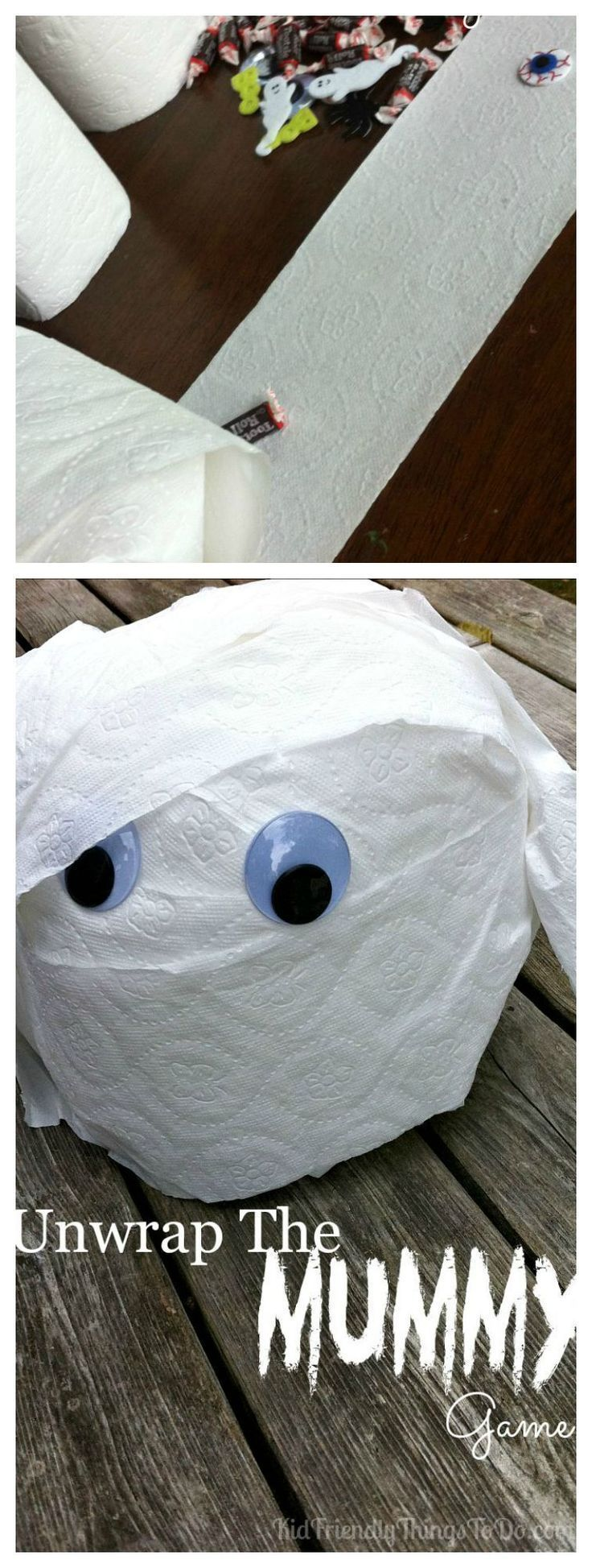 Unwrap The Mummy Halloween Party Game DIY Fall Party Games