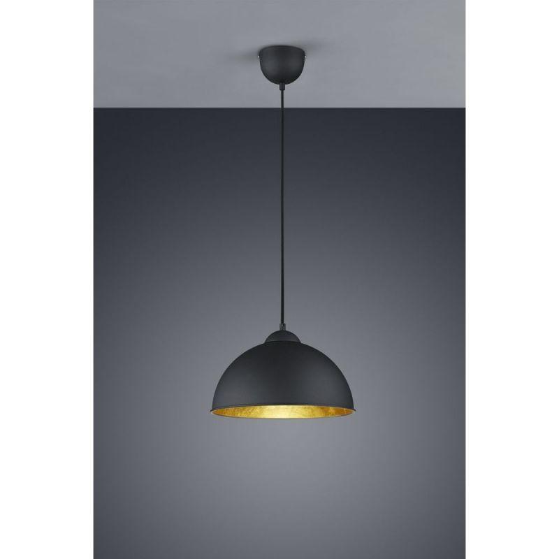 Leyton Lighting R30121002 Trio Jimmy black pendant light fitting. This stylish pendant has a ES  sc 1 st  Pinterest & Leyton Lighting R30121002 Trio Jimmy black pendant light fitting ...