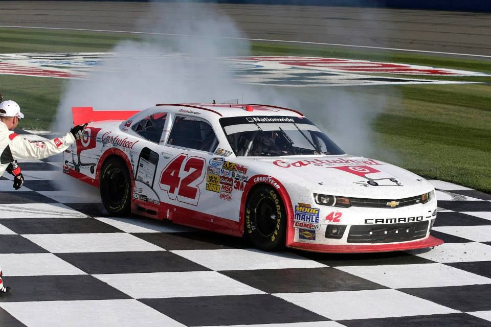 Kyle Larson S Cartwheel By Target Chevy Camaro Clinches His First Nationwide Win At California Speedway Nascar Diecast Cars Nascar Diecast Kyle Larson