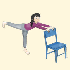 image result for holding a chair upper side  yoga for