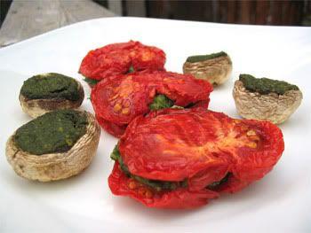 Rawviolis de tomates