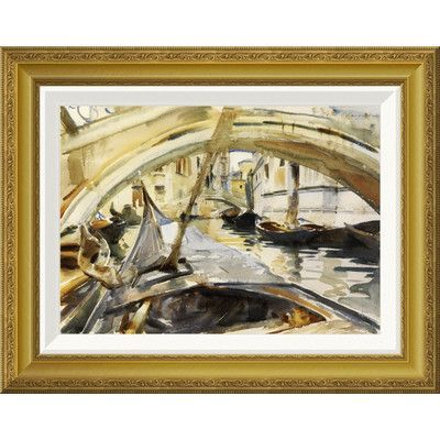 Global Gallery 'Rio di Santa Maria Formosa, Venice, 1902-04' by John Singer Sargent Framed Painting Print
