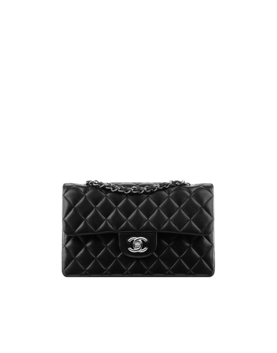 d21bff01a626 Iconic - Chanel 2.55 small classic flap bag (black caviar leather with  silver hardware and CC lock)