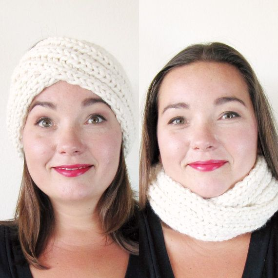 Infinity Headband Knitting Pattern - Ear Warmer Knitting Pattern ...