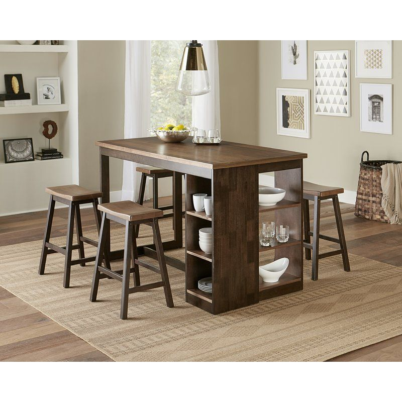 Espanola 5 Piece Counter Height Dining Set Dining Table With Storage Small Kitchen Tables Progressive Furniture