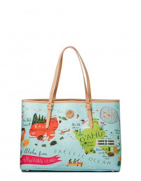 Spartina 449 Hawaiian Islands Tote Handbags Hawaii