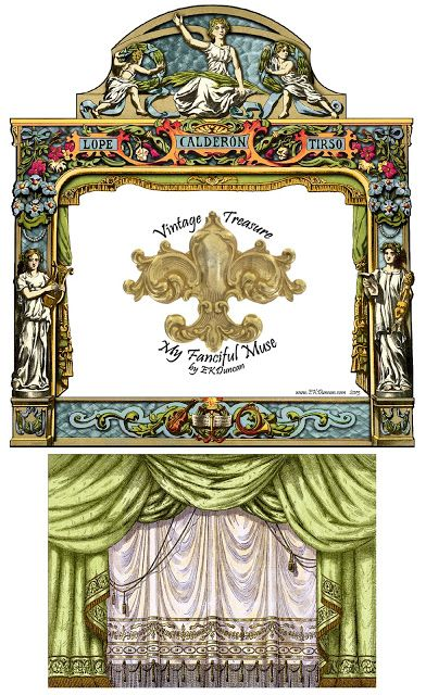 EKDuncan - My Fanciful Muse: New Look for a Vintage Paluzie Paper Theater