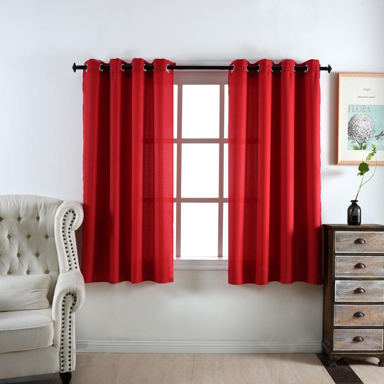 Red Window Curtain Panels Sale Hemprojekt