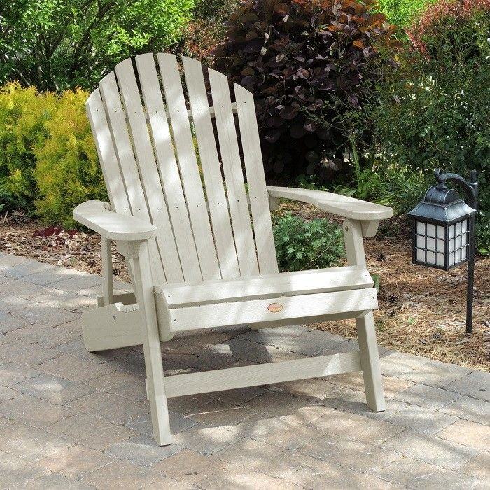 Folding Oversized Adirondack Chair In A New Whitewash Color By Highwood  USA. Made In The