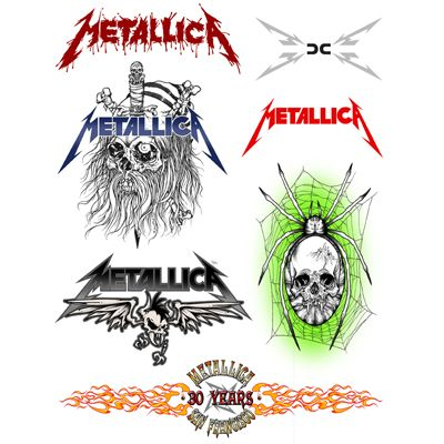 temporary tattoos metallica pinterest metallica and tattoo. Black Bedroom Furniture Sets. Home Design Ideas
