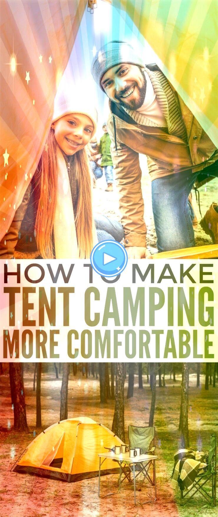 tent camping more comfortable  zeltcamping komfortabler machen making tent camping more comfortable  Familiale tent camping  Design tent camping  Astuces tent campingmaki...