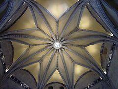 La bóveda de la Sala dei baroni.