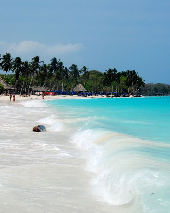 Playa Blanca, Cartagena, Colombia. One of the amazing excursions on our Barranquilla program!!