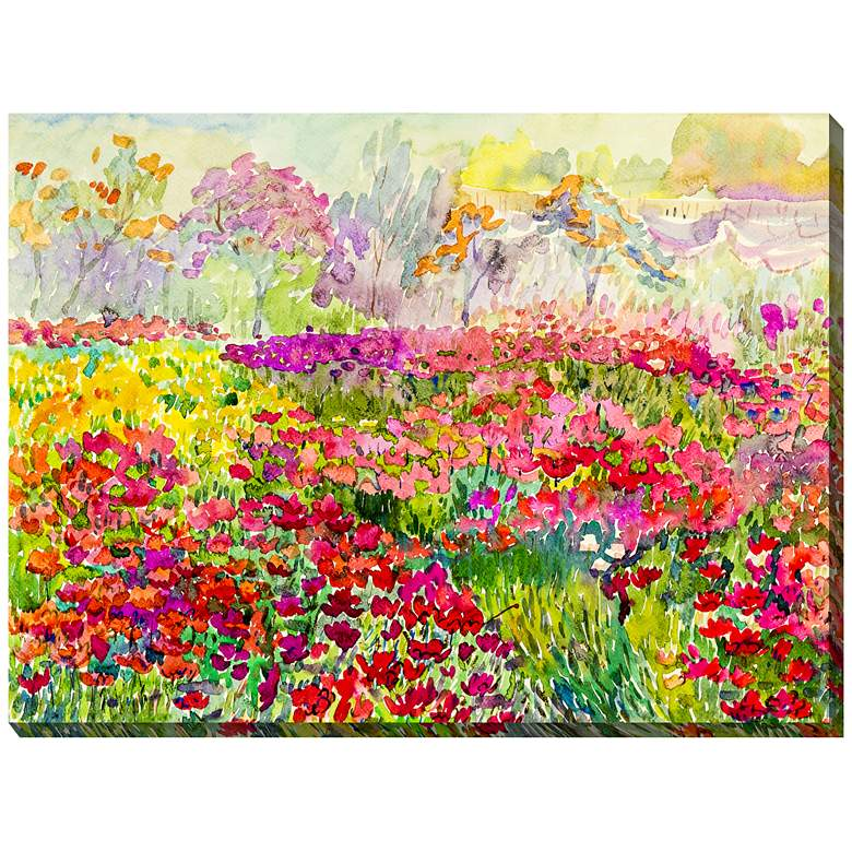 Field Of Color 40 Wide All Weather Outdoor Canvas Wall Art 41y63 Lamps Plus Watercolor Canvas Wall Art Canvas Art Prints Art