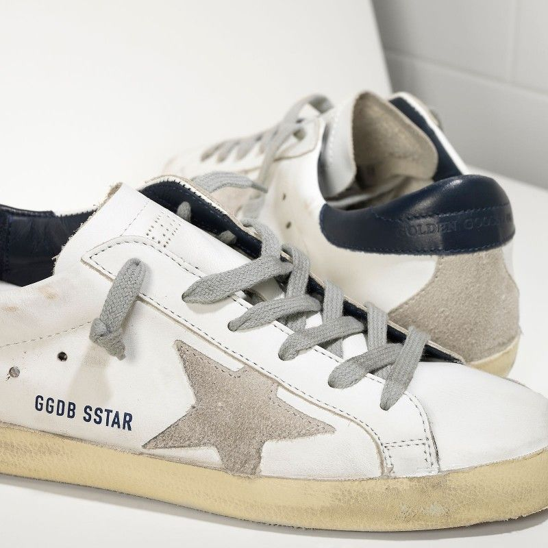Golden Goose Super Star Sneakers In Leather With Suede Star Women - Golden  Goose   GGDB 85448a2dbca