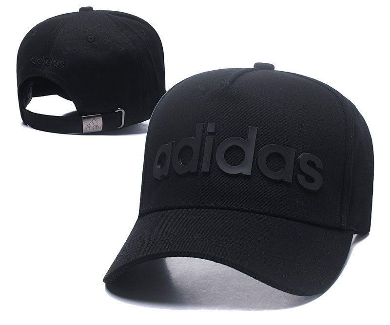 Men s   Women s Adidas BIC Rubber Logo A-Frame Curved Dad Cap - Black a7299d0c49d