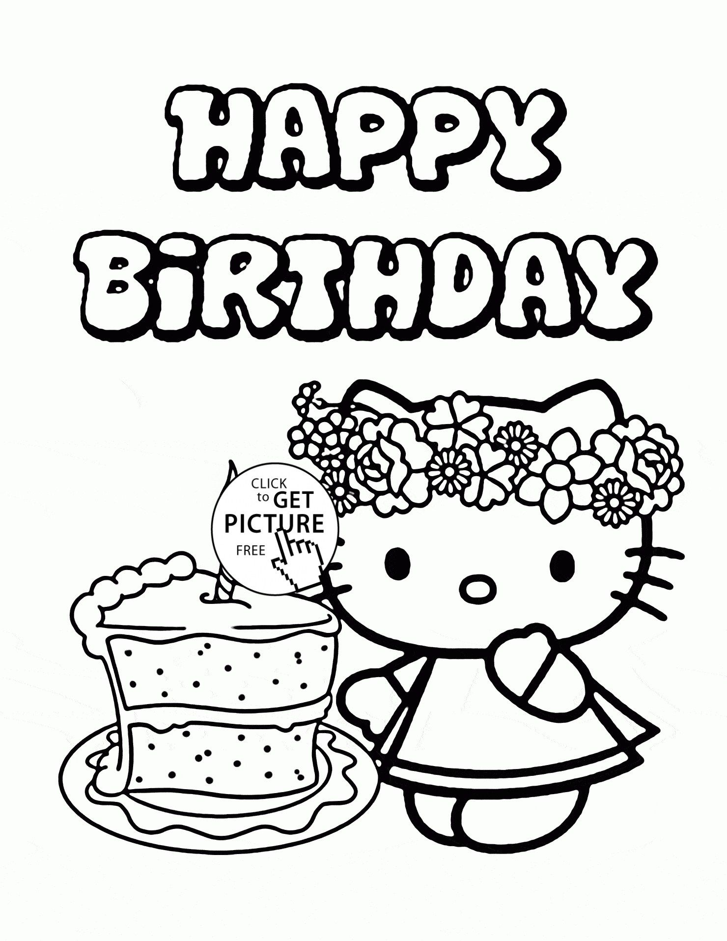 30 marvelous photo of birthday cake coloring pages birthday cake Birthday Cake Ideas 30 marvelous photo of birthday cake coloring pages birthday cake coloring pages hello kitty