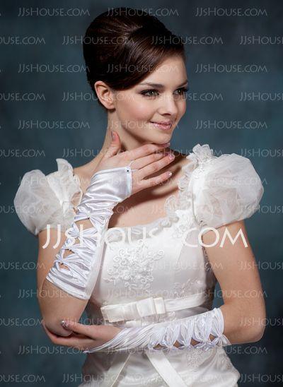 Gloves - $14.99 - Elastic Satin Elbow Gloves (014020501) http://jjshouse.com/Elastic-Satin-Elbow-Gloves-014020501-g20501