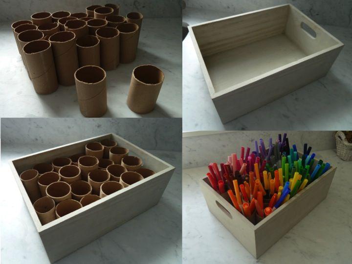 Diy marker organizer diy marker craft room craft room