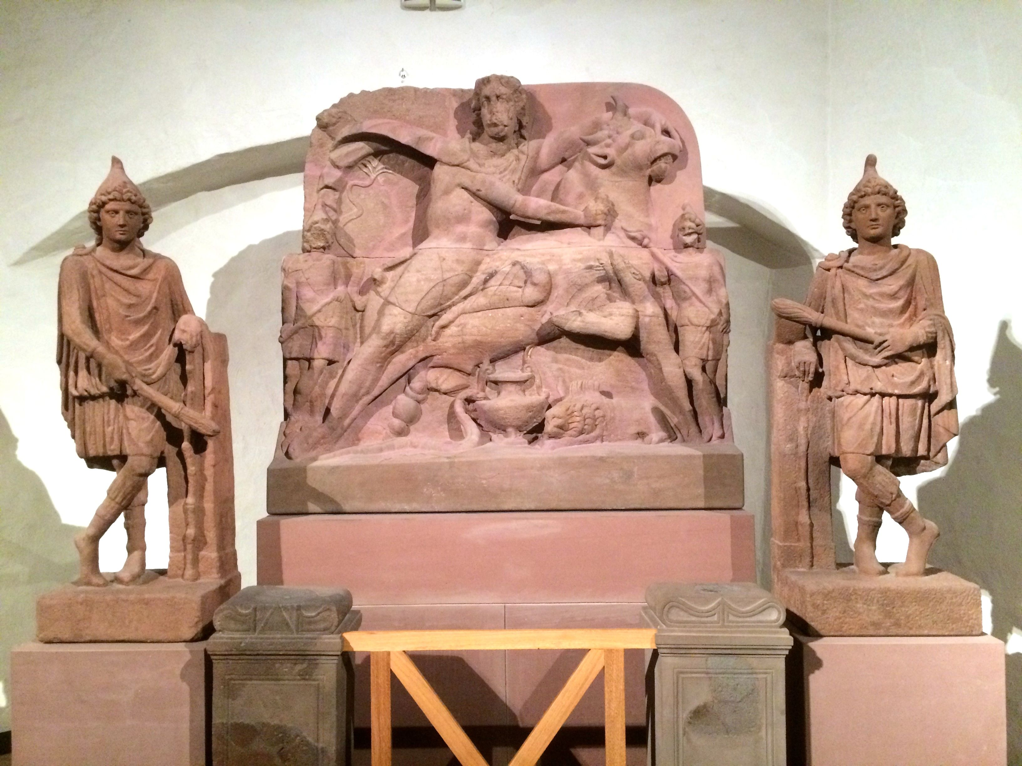Mithras Altar Archaeological Museum Frankfurt Am Main Germany