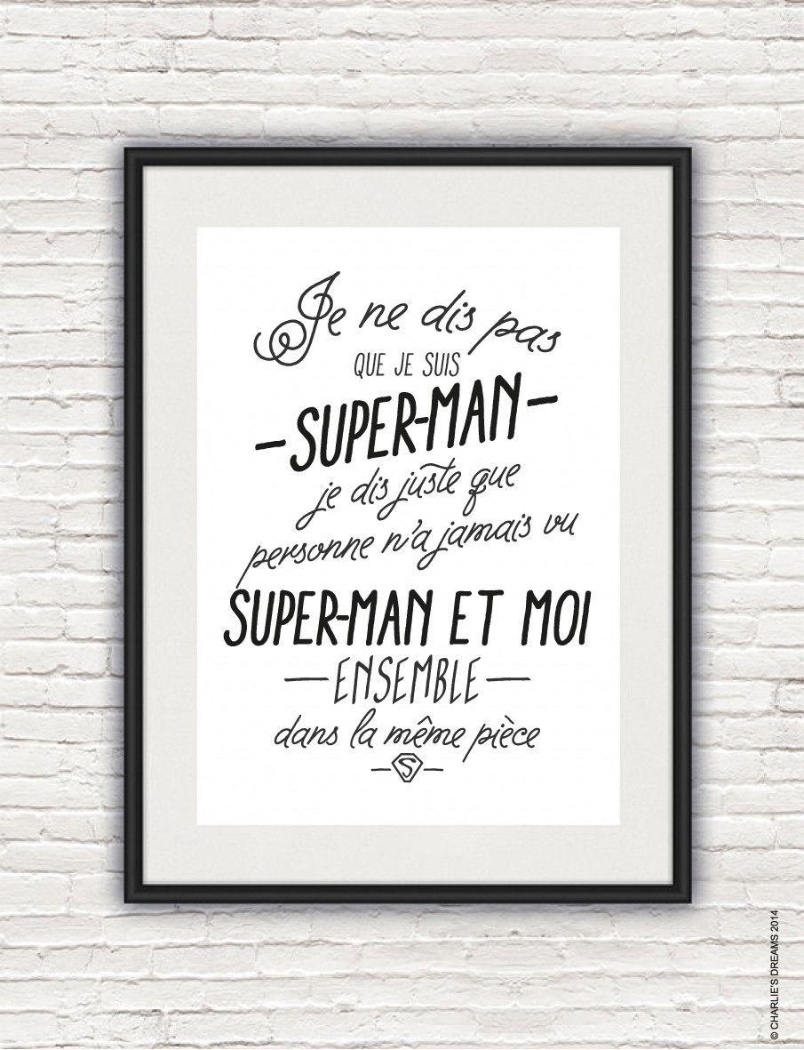 Affiche super h ros charlie 39 s dream super hero poster super h ros chambre enfant affiche - Deco chambre super heros ...