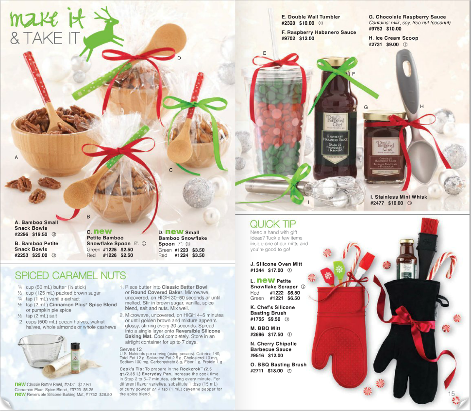 Wonderful Christmas Gifts For Cooks Part - 3: Pampered Chef 2013 Christmas Catalog Great Gift Ideas! In Cute Sets,  Silicon Oven Mitts