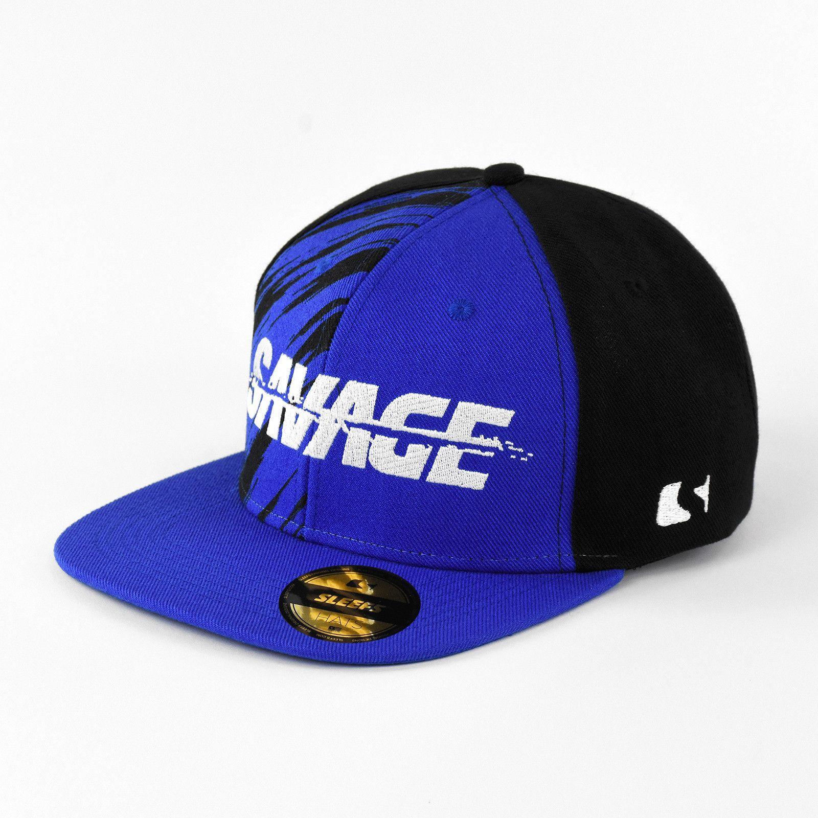 277333e19ca58 Sleefs Savage Blue Snapback Hat