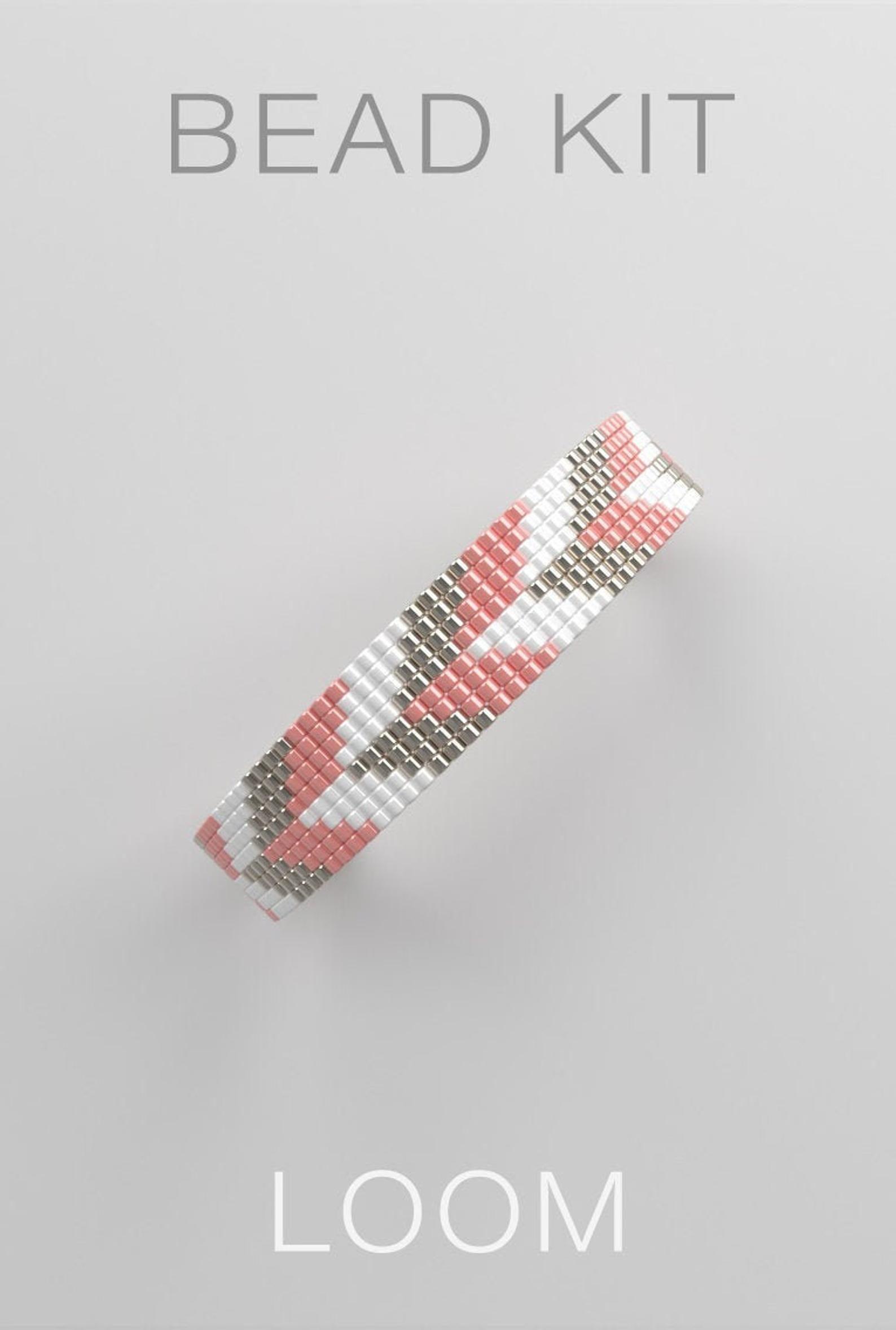 Kit De Broderie De Perles Modele De Bracelet De Metier A Etsy Loom Bracelet Patterns Bracelet Patterns Loom Bracelets