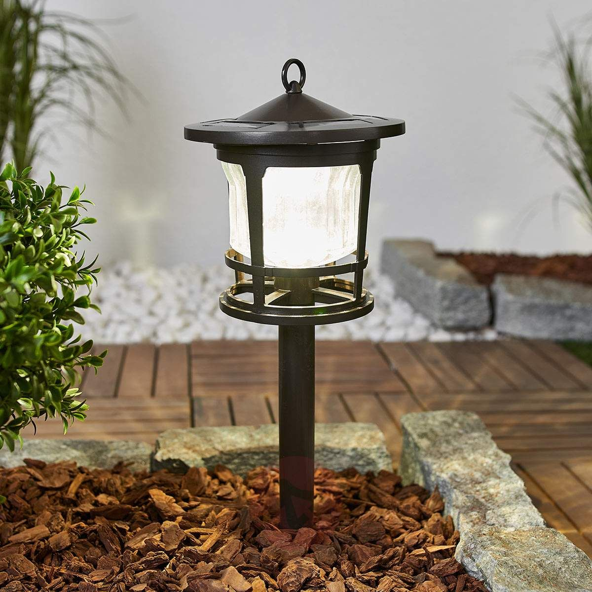 Piękna Lampa Solarna Led Hagen Ze Szklanym Kloszem Lampy