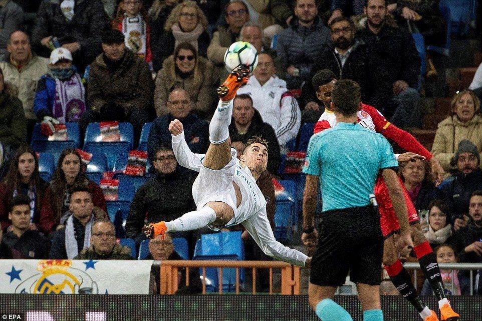 Real Madrid 63 Girona Cristiano Ronaldo scores hattrick