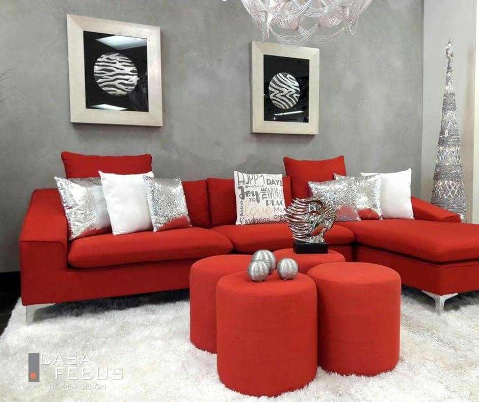 Red Couch Living Room Ideas Red Living Room Decor Red Leather Couch Living Room Red Furniture Living Room #red #sofa #decorating #living #room