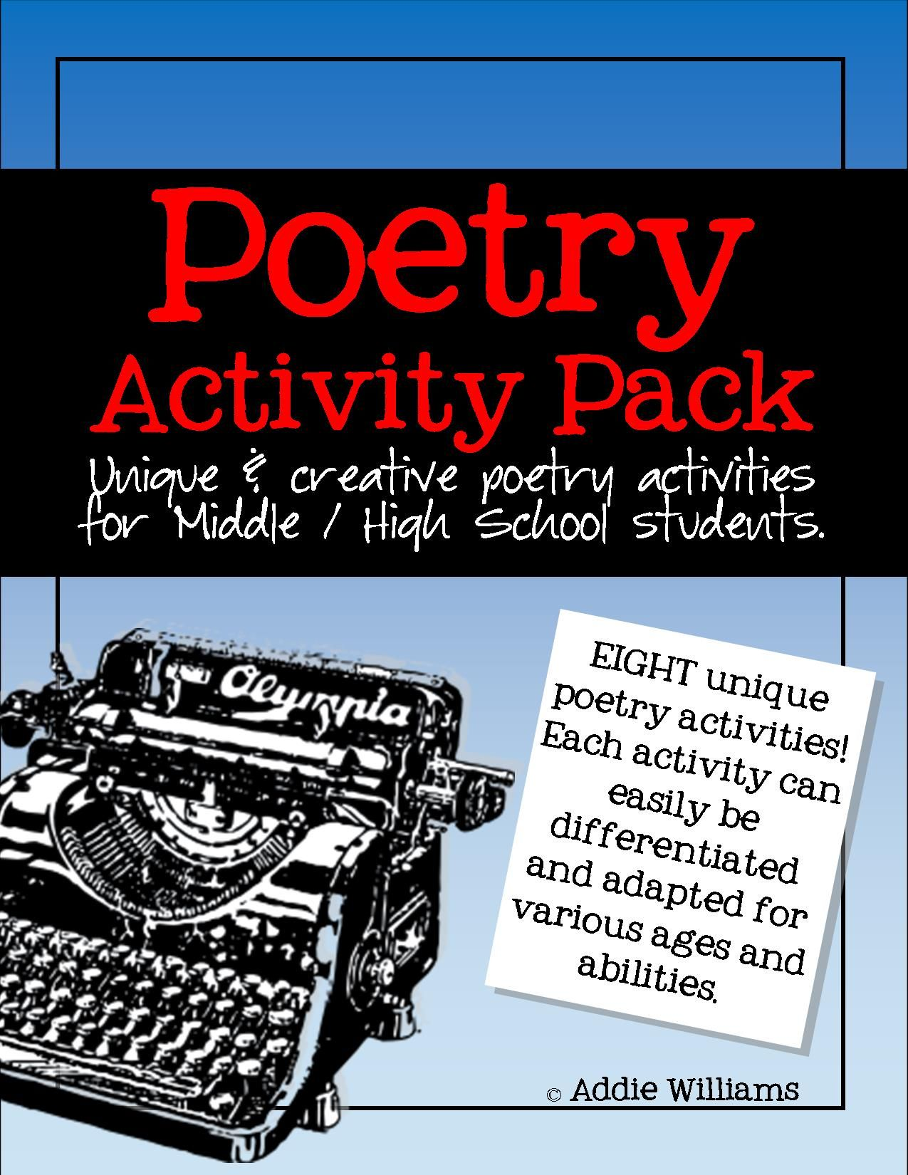 poetry activity bundle writing analysis and review resources teaching ideas resources. Black Bedroom Furniture Sets. Home Design Ideas