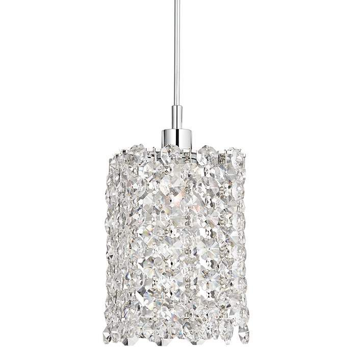 Schonbek Geometrix Refrax 4 Wide Crystal Mini Pendant