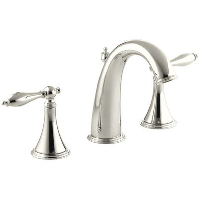 Kohler Finial Widespread Bathroom Faucet With Drain Assembly