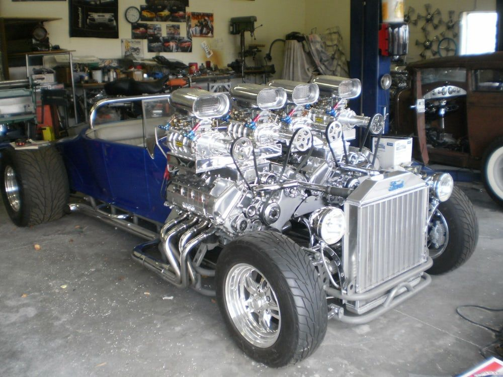 Gordon Tronson S Double Trouble A 1927 Model T Roadster Fitted With Massive Twin Side By Side Engines For Cool Cars Hot Rods Cars Hot Rods