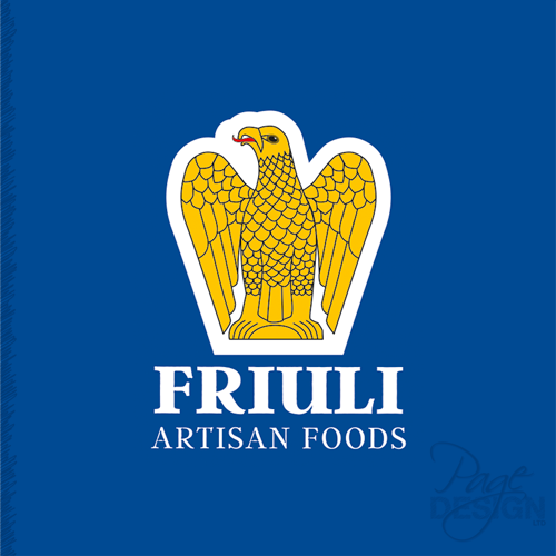 Logo for Friuli Artisan Foods,Australia, inspired by the Friuli Giulia Venezia region in Italy.