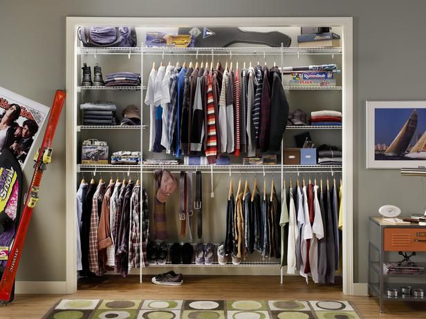 HGTV, A Teenage Boy Would Never Have A Poster Of The Jonas Brothers In His  · Small Closet OrganizationOrganization ...