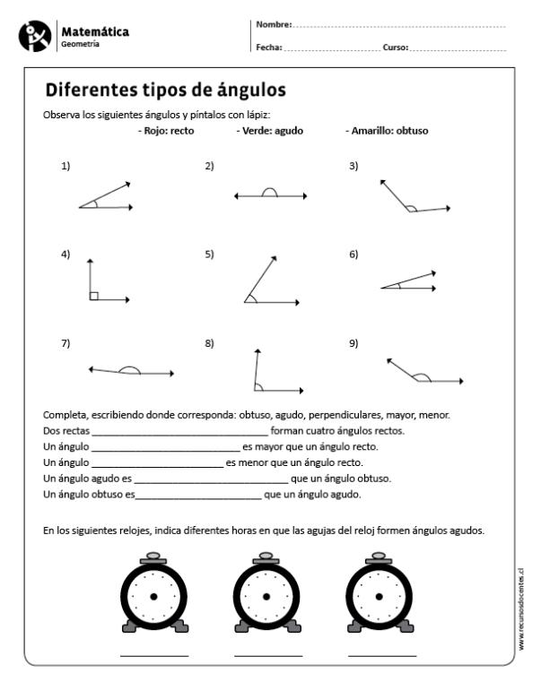 Diferentes Tipos De Angulos Tipos De Angulos Matematicas Angulos Matematicas