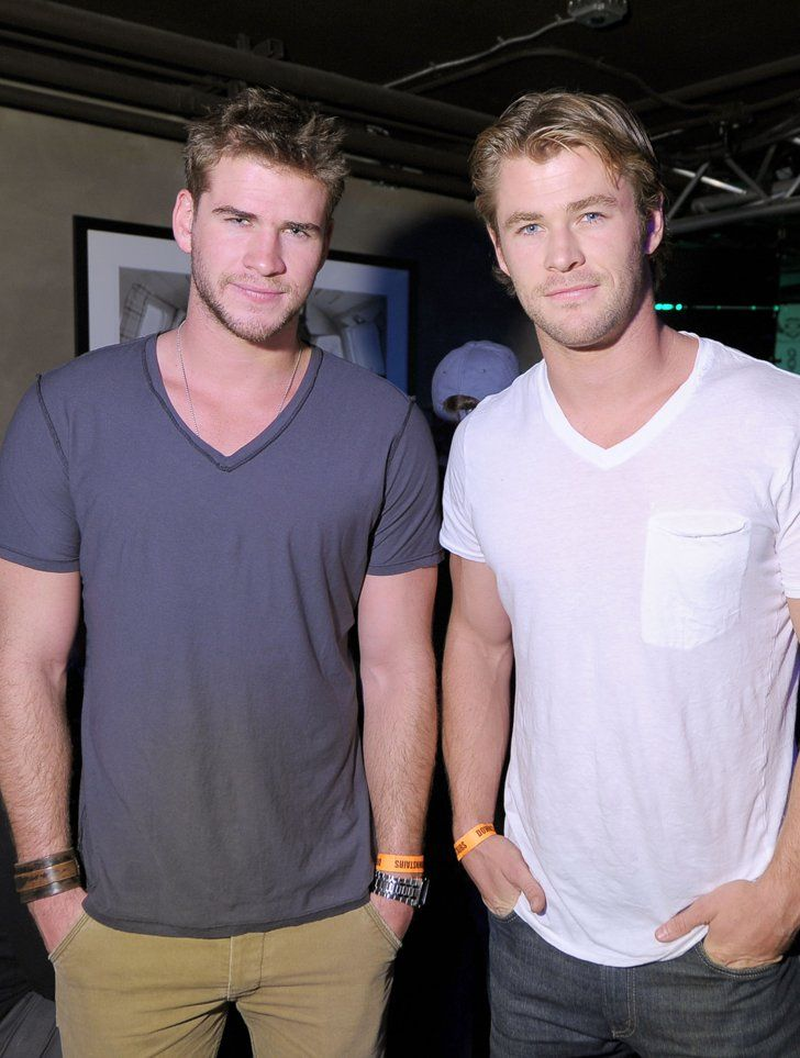 Pin for Later: Swoon Over Chris Hemsworth's Cutest Moments With His Brothers, Liam and Luke  They were two of a kind when they both had their hands in their pockets at a Sundance party in Park City, UT, in January 2011.
