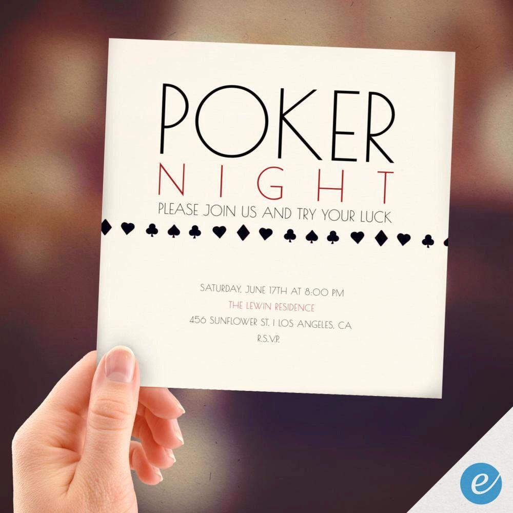 Poker Night, PRINT FROM HOME, Poker Night Invitation, Game Night ...