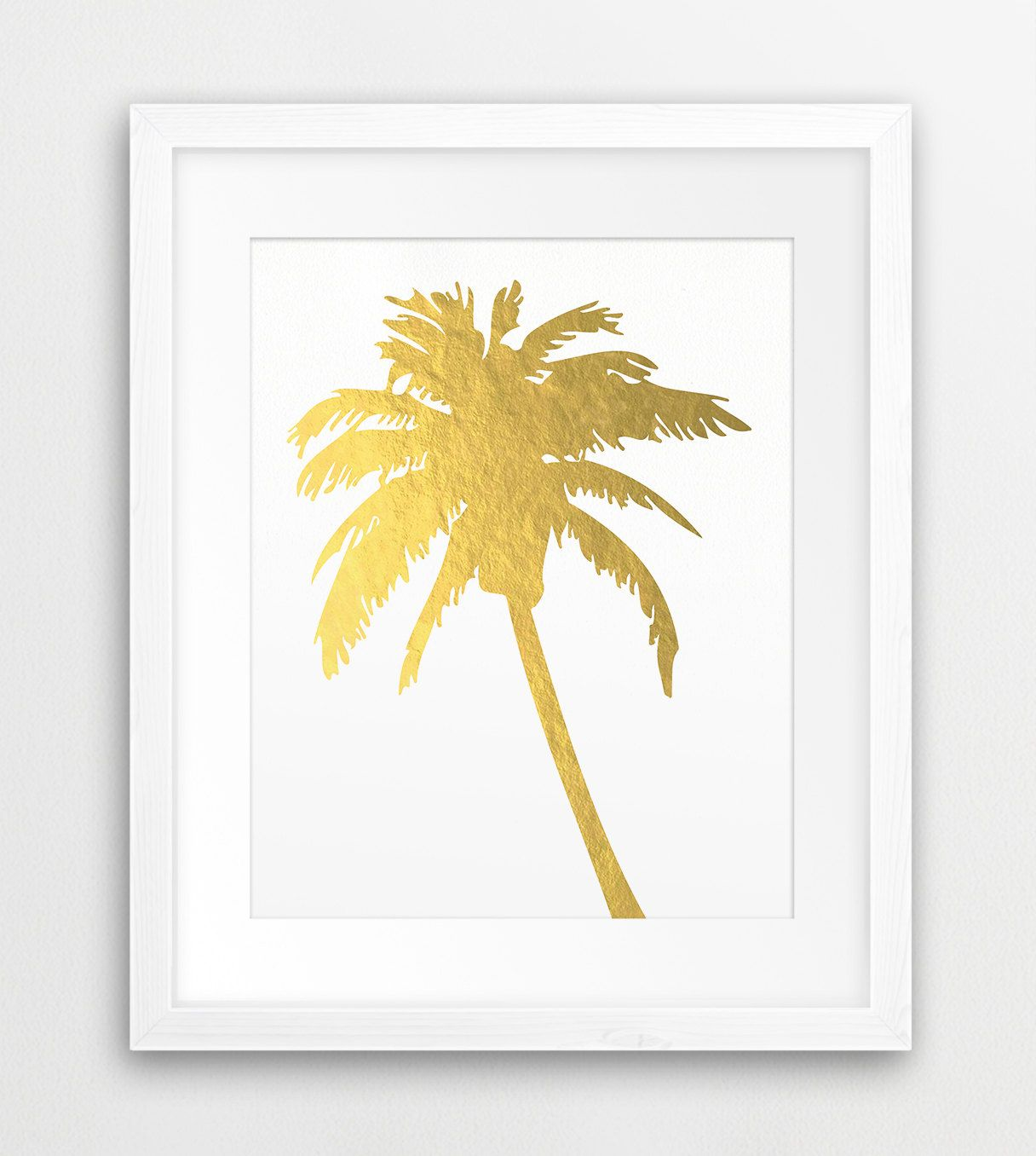 Palm Tree Gold Printable File, Palm Silhouette Gold Foil Texture ...